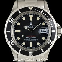 Rolex S/S O/P Red Writing Mark V Black Dial Submariner Date 1680