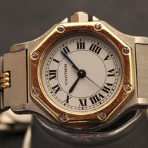 Cartier santos lady octagon steel gold automatic 25mm