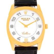 Rolex Cellini Danaos 18k Yellow Gold White Dial Mens Watch 4233