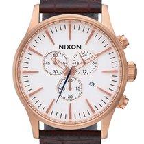 Nixon A405-2459 Sentry Chrono Leather Herren 42mm 10ATM