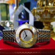 Cartier Must De Cartier 21 Steel And Gold Round Dress Watch...