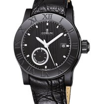 Corum 373.516.98/F221.BN Corum Romulus 42 in Black PVD Steel -...