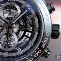 TAG Heuer Carrera Heuer 01 Black Ceramic 45mm Skeleton Indexes...