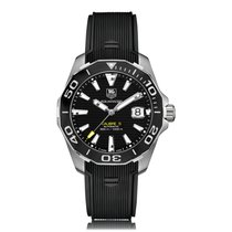TAG Heuer Aquaracer Automatic Stainless Steel Black Dial Mens...