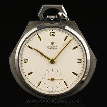Rolex S/S Very Rare Open Face Pocket Dress Watch C1920's