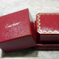 Cartier vintage red leather ring or pendant box newoldstock