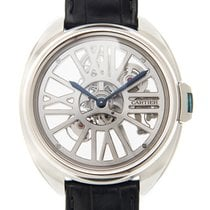 Cartier Clé De Cartier 18k White Gold Transparent Skull...