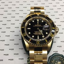 Rolex Yellow Gold Submariner Black Dial and Bezel - 16618