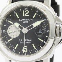 パネライ (Panerai) Polished  Luminor Gmt Steel Automatic Watch Pam...