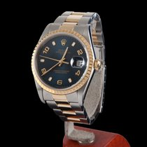 Rolex Oyster Perpetual Date Steel and Gold Men Size