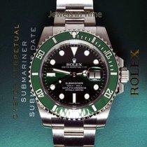 Rolex NEW Rolex Green Submariner HULK 116610 Steel Ceramic...