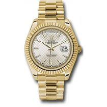 Rolex Day-Date 40 228238 18K Yellow Gold 40MM Silver Diagonal...