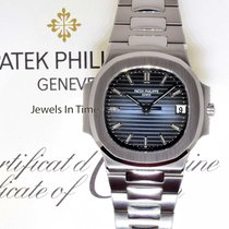 Patek Philippe Mens Nautilus Stainless Steel Watch Box/Papers...