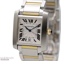 Cartier Tank Francaise Man Size Automatic 18k Yellow Gold...