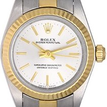 Rolex Ladies Oyster Perpetual 2-Tone Watch 76193