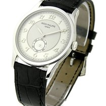 Patek Philippe 5196P 5196P Mens Calatrava - Platinum on Strap...