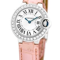 "Cartier Diamond ""Ballon Bleu"" Strapwatch."