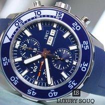 IWC Aquatimer Chronograph Blue Leather Strap