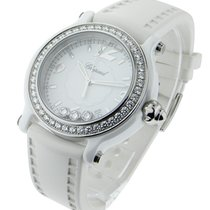 Chopard 288507-9012 Happy Sport in White Ceramic with Diamond...