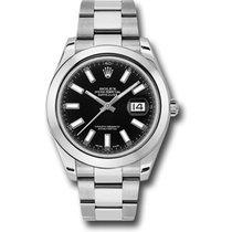 Rolex Datejust 41, Ref. 126300 - schwarz Index ZB/Oysterband