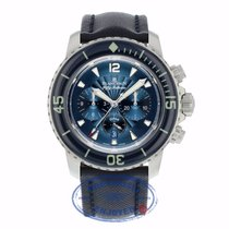 Blancpain Fifty Fathoms Flyback Chronograph Blue Dial 45mm