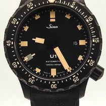 Sinn U1 S E Diving Watch Black Hard Coated Tegiment Submarine...