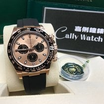Rolex Cally - 2017 NEW Daytona 116515LN- RUBBER PINK DIAL膠帶粉面黑圈