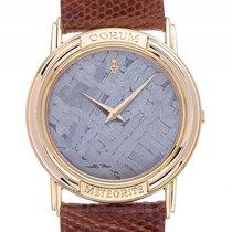 Corum Meteorite 18kt Gelbgold Quarz Armband Leder 31mm...