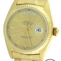 Rolex Day-Date President 36mm 18038 18K Gold Champagne Watch