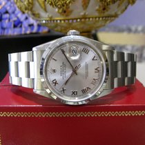 Rolex Oyster Perpetual Datejust Stainless Steel Silver Dial...