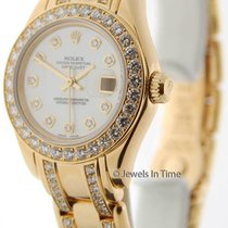 Rolex Datejust Pearlmaster 80298 A 18K Yellow Gold MOP &...
