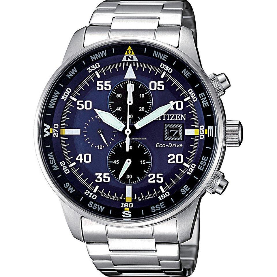 Citizen Aviator Chrono Black Dial Steel 44mm CA0690-88E +BONUS ... 814a00e790