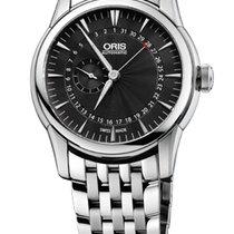 Oris Artelier Pointer Date Black Dial Steel Bracelet
