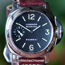 Panerai PAM 01 B Luminor Marina with Tritium Dial