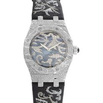 Audemars Piguet Royal Oak Lady Oak Leaves 18K Solid White Gold...