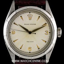 Rolex S/Steel Silver Dial Oyster Precision Vintage Gents 6223