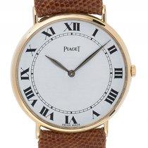 Piaget Tradition 18kt Gelbgold Quarz Armband Leder 32mm...