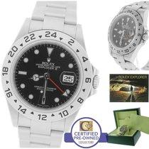 Rolex Explorer II 16570 T M 3186 Black Date GMT 40mm Watch