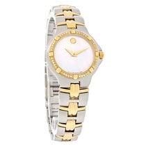 Movado Olympian Ladies Two Tone Mop Diamond Swiss Quartz Watch...