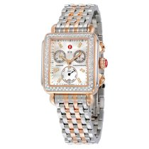 Michele Signature Deco Diamond Mother of Pearl Two-tone Ladies...