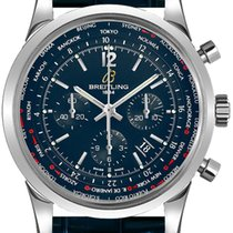 Breitling Transocean Unitime Pilot Chrono Stainless Steel...