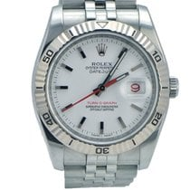 Rolex DateJust Turn-O-Graph Stainless Steel White Face Z