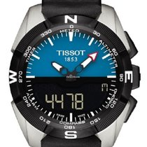 Tissot T-Touch Expert Solar Black Dial Black Leather Strap...