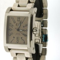 Oris - miles rectangular day/date- 585 7525 40 62- wristwatch-