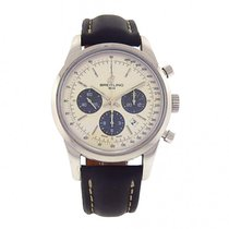 Breitling Transocean 01 Chronograph AB015212 Stainless Steel...