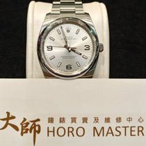 Rolex HOROMASTER-114200 Oyster Perpetual Silver Arabic 369