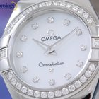 Omega Constellation Quartz 27mm Steel Diamonds Ladies Watch