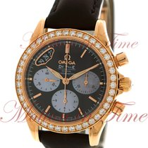 Omega Co-Axial Chronograph Ladies Automatic 35mm, Brown Dial,...