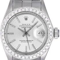 Rolex Ladies Rolex Datejust Watch with Diamond Bezel 69174