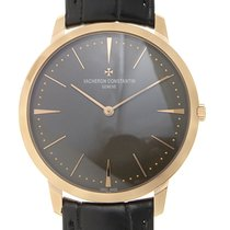 Vacheron Constantin Patrimony Traditionelle 18k Rose Gold Gray...